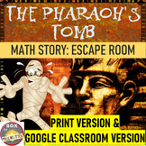 Egyptian Math Mystery Story: Use math to defeat the mummy & get the treasure!
