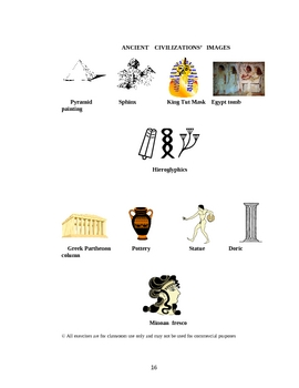 Egyptian, Minoan, Mycenaean, Archaic Greek Comparison Chart (revised)
