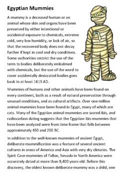 Egyptian Mummies Handout