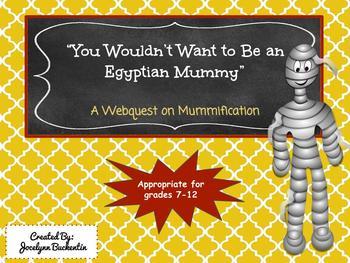 Egyptian Mummification Webquest