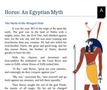 Egyptian Myth Reading Packet - Horus