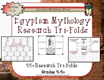 Egyptian Mythology Gods and Goddesses Research Tri-Folds