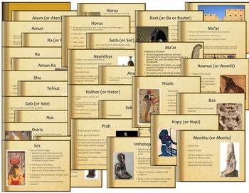 Egyptian Mythology Intro PPT, Review Games, Tests Bundle
