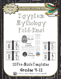 Egyptian Mythology Gods and Goddesses Mini Research Fold-Ems