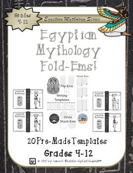Egyptian Mythology Gods and Goddesses Mini Research Fold-Ems