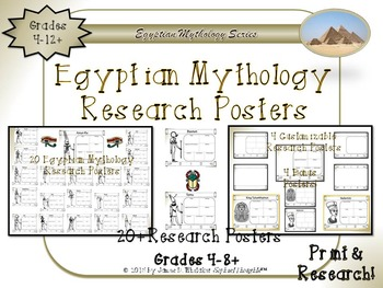 Egyptian Mythology Gods and Goddesses Print and Research Posters