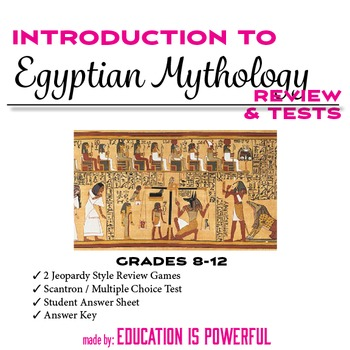 Egyptian Mythology Review Games and Test