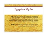 Egyptian Myths Analysis