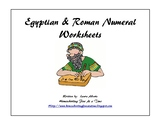Egyptian & Roman Numerals Worksheets
