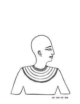 Egyptian Portrait Template! Add an AMAZING headpiece on this Pharaoh!