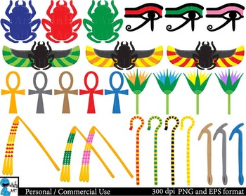 Egyptian Props - Clip Art Digital Files Personal Commercial Use cod206