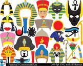 Egyptian Props - Clip Art Digital Files Personal Commercia