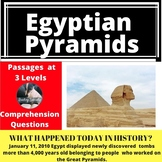 Egyptian Pyramids Differentiated Reading Comprehension Passage January 11