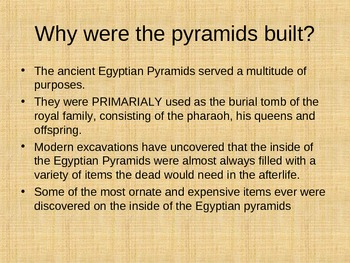 Egyptian Pyramids Powerpoint and Assignment