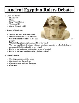 Egyptian Rulers Debate Activity