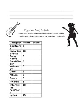Egyptian Song Project