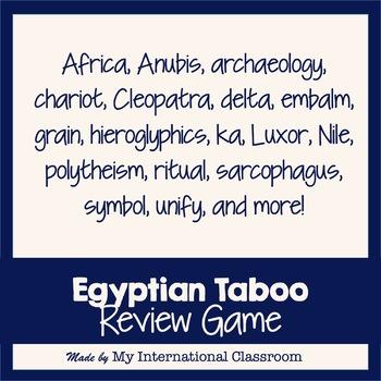 Egyptian Taboo Classroom Game