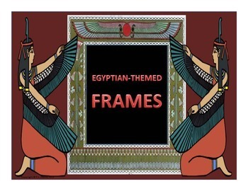 Egyptian Themed Frames Landscape Orientation