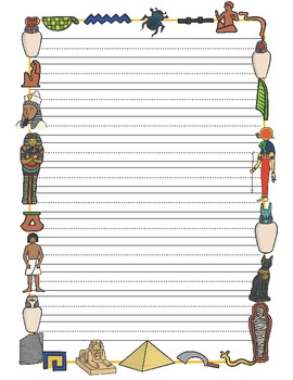 Egyptian Themed Writing Paper