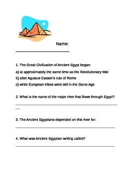 Egyptian Unit Pre-Assessment