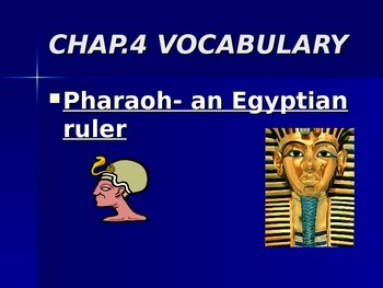 Egyptian Vocabulary PowerPoint Presentation