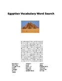 Egyptian Art Vocabulary Word Search