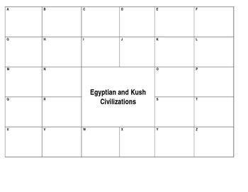 Egyptian and Kush Civilizations Alphabet Book
