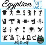Egyptian hieroglyphs Vol. I Font Egypt Commercial Use Jeroglíficos Egipcios