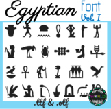 Egyptian hieroglyphs Vol. I Font Egypt Commercial Use Jeroglíficos Egipcios