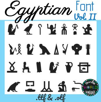 Egyptian hieroglyphs Font Vol.II Egypt Commercial Use Jeroglíficos ...