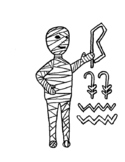 Egyptian mummy coloring page