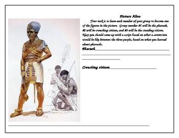 Egyptian pharaoh picture alive worksheet