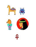 Egyptian themed clip art, Follow me some are free!