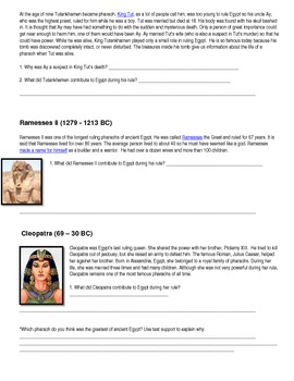 Egypt's Famous Pharaohs