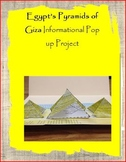 Egypt's Pyramids of Giza Pop up Project