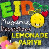 Eid (Aïd) Mubarak Lemonade Decor ( French And English)