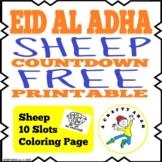 Eid Al Adha Sheep Countdown FREE Printable