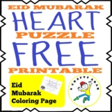Eid Mubarak Heart Puzzle (FREE Printable}