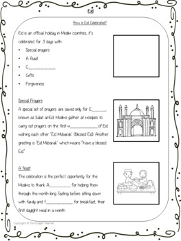 Eid PowerPoint and Worksheets