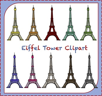 Eiffel Tower Clipart / Paris Clipart / France Clipart / Travel Clipart