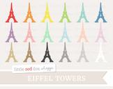Eiffel Tower Clipart; Paris, France, Travel