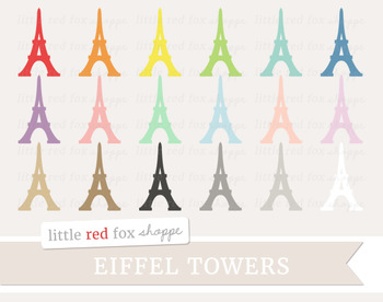 Eiffel Tower Clipart; Paris, France, Travel