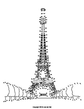 photograph regarding Printable Eiffel Tower named Eiffel Tower Severe Dot-in the direction of-Dot / Communicate the Dots PDF