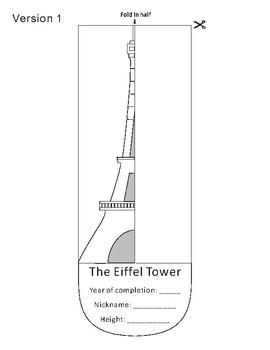 Eiffel Tower Paper Cutting Craft
