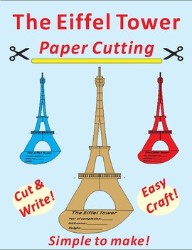 image regarding Eiffel Tower Printable identified as Eiffel Tower Paper Slicing Craft as a result of Ricks Creations TpT