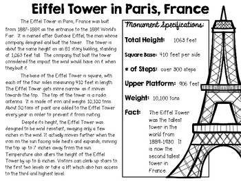Eiffel Tower in Paris, France ~ Engineering the World ~ STEM Challenge