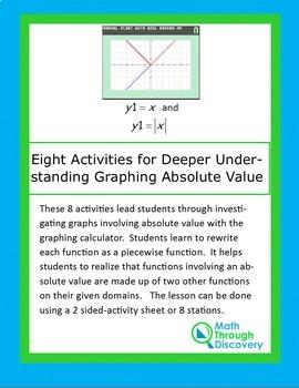Algebra:  Eight Activities for Deeper Understanding Graphing  of Absolute Value