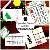 Ten Activities for Teaching and Practicing Equivalent Fractions