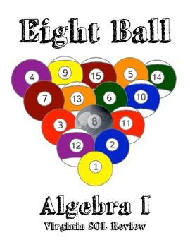 Eight Ball Review Bundle Virginia SOL's Algebra I, Geometry, & Algebra II
