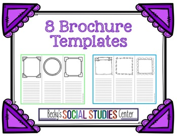 Eight Brochure Templates For Any Subject